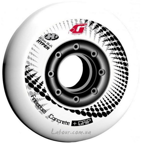 Колеса для роликовых коньков купить Hyper Concrete+Grip(White) '15